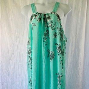 Ensnovo Dress Sz 5XL like 3X Mint Green Chiffon